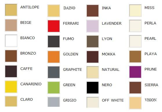 Цветовая палитра Gatta